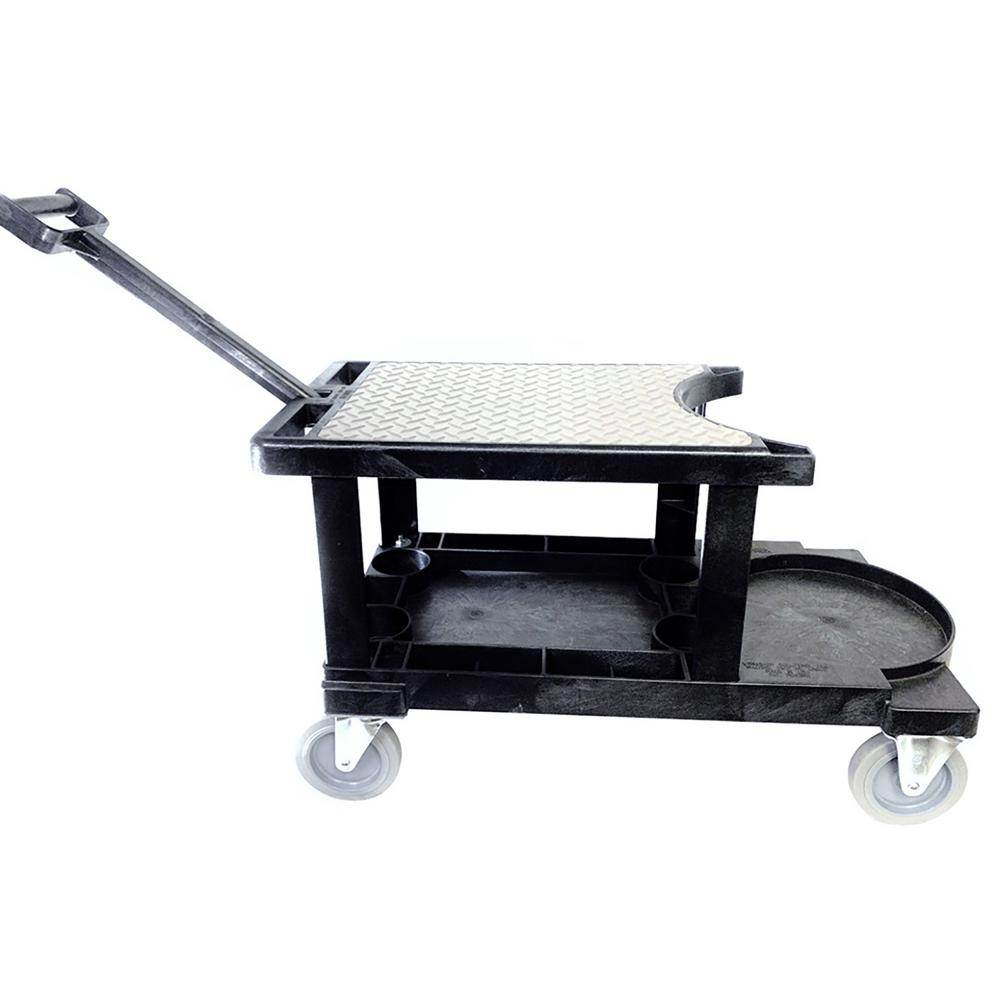 "Workshop Solutions LLC Tradesman Utility Cart w/ Handle Without Tool Apron Fits a 5 Gal. Bucket Not Included 14 3/4"" W x 31""L x 18 1/4"" H"