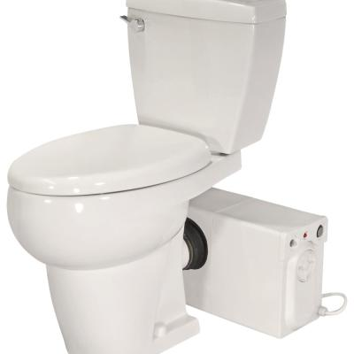 Bathroom Anywhere 2-piece 1.28 GPF Single Flush Elongated Toilet with Seat Macerating Pump in White
