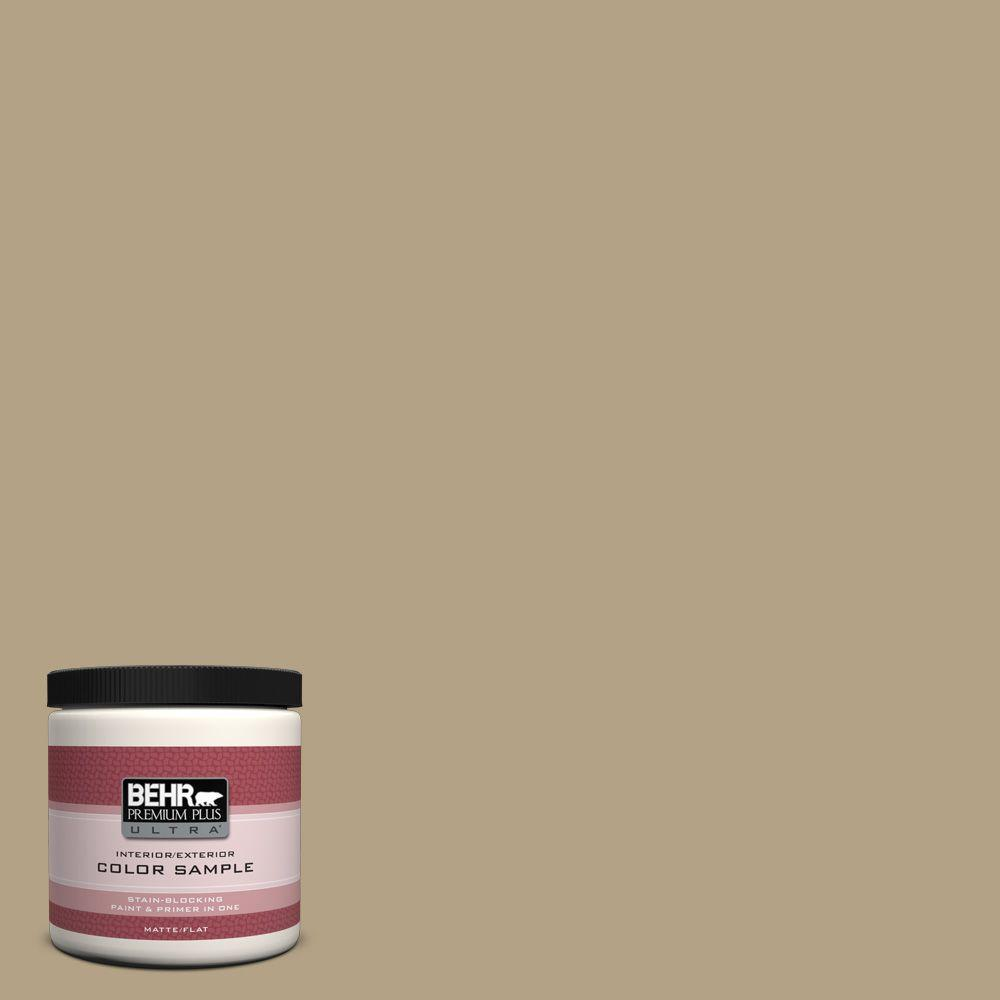 BEHR Premium Plus Ultra 8 oz. #PPU8-7 Chamois Tan Interior/Exterior Paint Sample