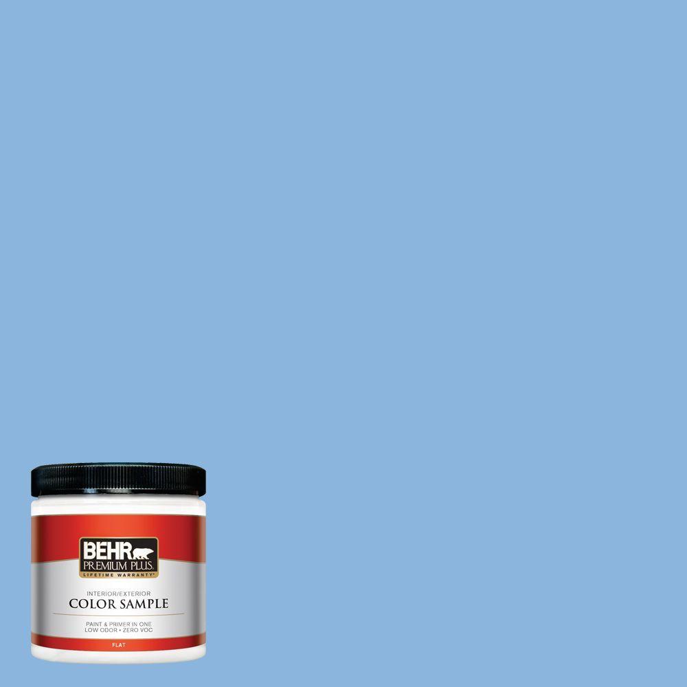 BEHR Premium Plus 8 oz. #570B-4 Bayou Interior/Exterior Paint Sample