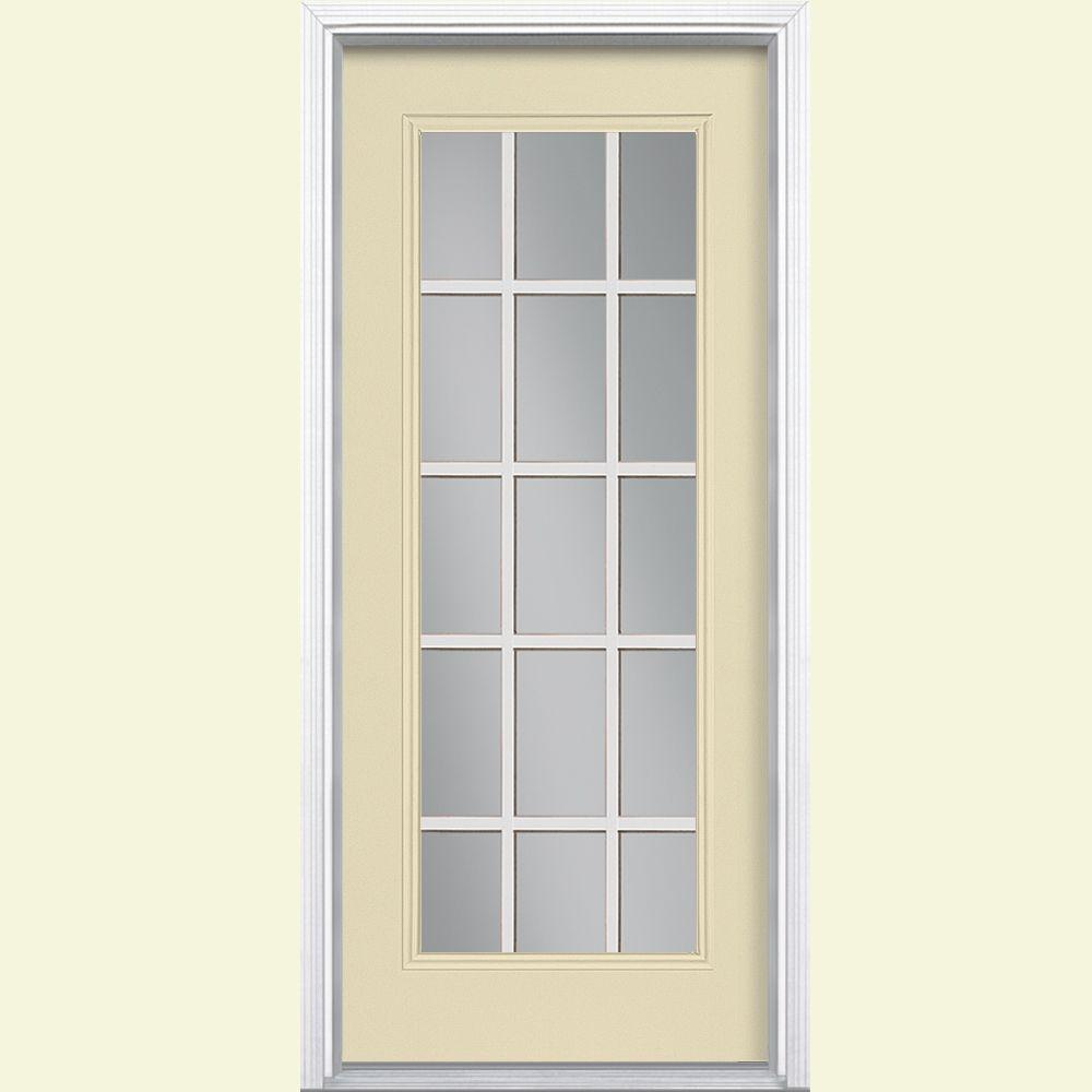 Steel Entrance Doors Product : Masonite in lite left hand inswing painted