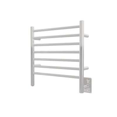 Radiant Small 7-Bar Hardwired Electric Towel Warmer in Polished Stainless Steel