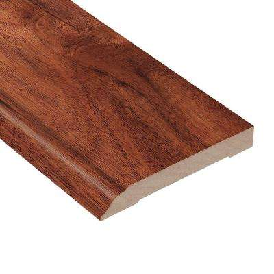 Teak Amber Acacia 1/2 in. Thick x 3-1/2 in. Wide x 94 in. Length Hardwood Wall Base Molding