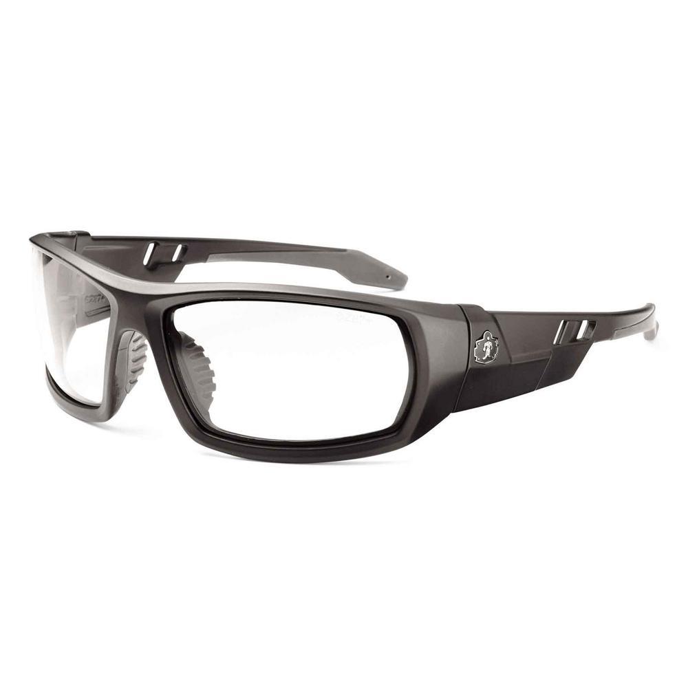 Skullerz Odin Matte Black Anti-Fog Safety Glasses, Clear Lens - ANSI Certified