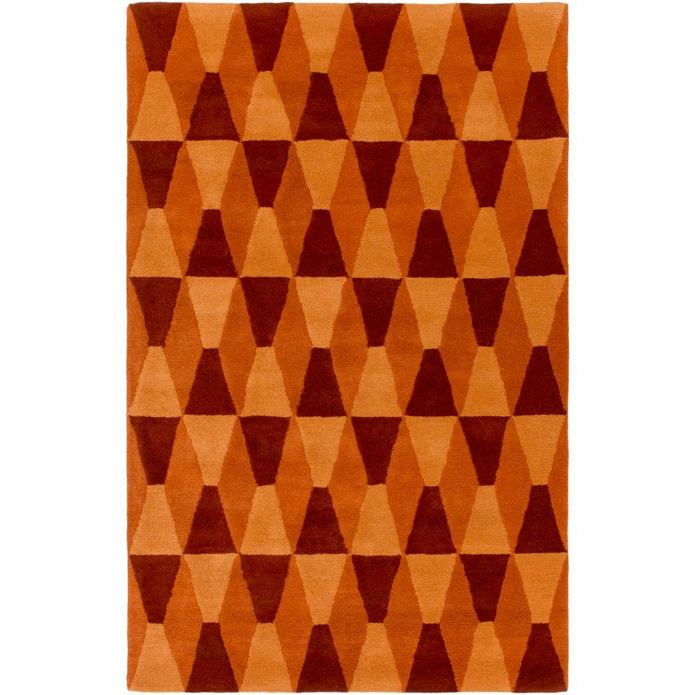 Oliva Burnt Orange 5 ft. x 7 ft. 6 in. Indoor