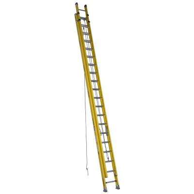 40 ft. Fiberglass D-Rung Extension Ladder with 300 lb. Load Capacity Type IAA Duty Rating