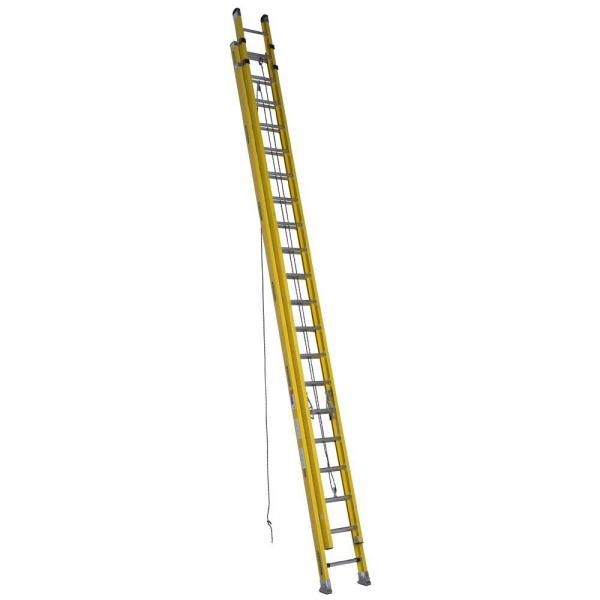 40 ft. Fiberglass D-Rung Extension Ladder with 300 lb. Load Capacity Type IA Duty Rating