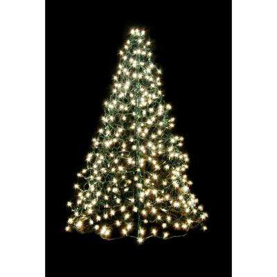 Fisherman Creations 4 ft. Artificial Christmas Tree- Folds Flat with Incandescent Clear Lights