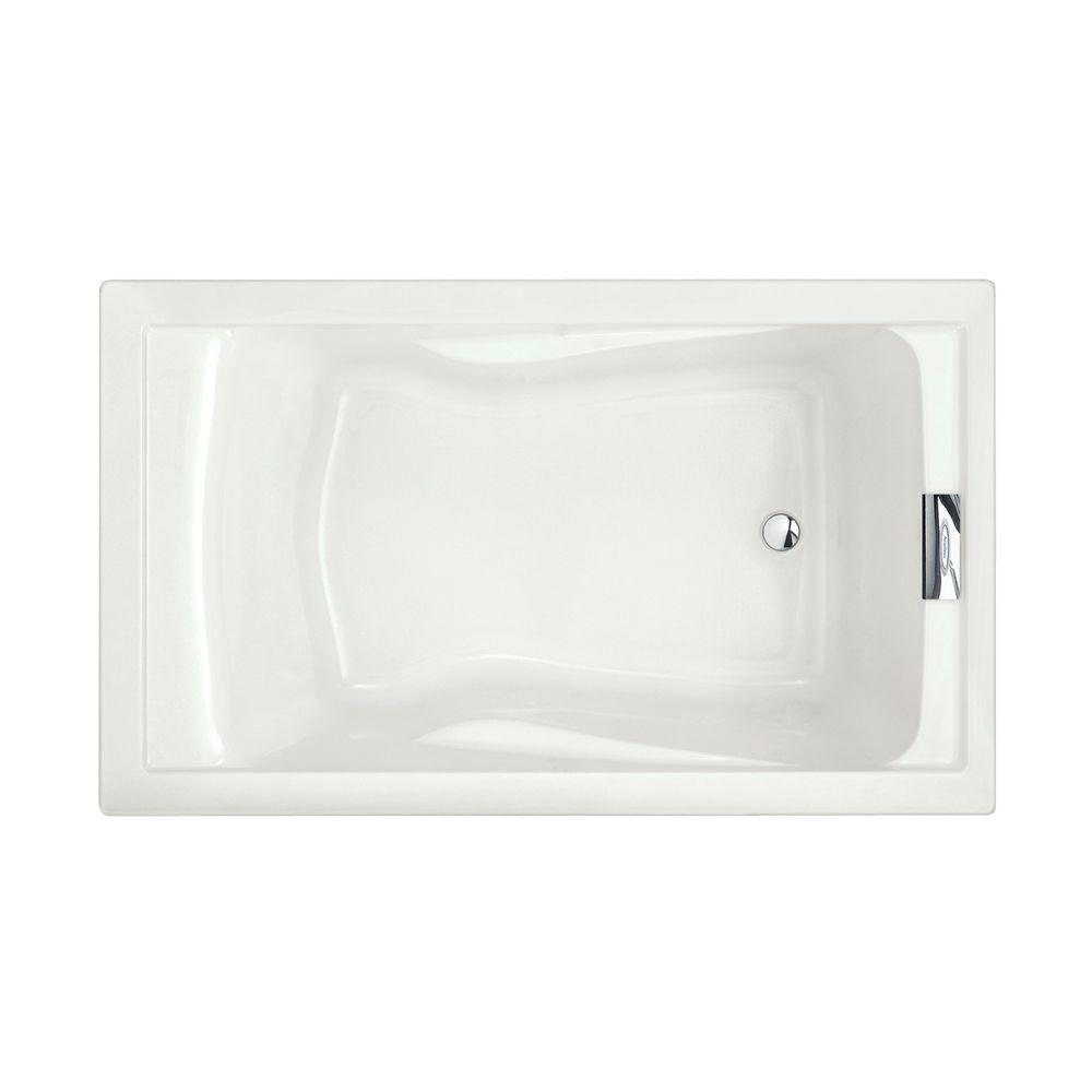 Evolution 5 ft. Reversible Drain Deep Soaking Tub in White