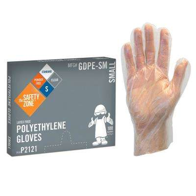 Small Clear High Density PE Gloves Bulk 2000 (4-Pack of 500-Count)