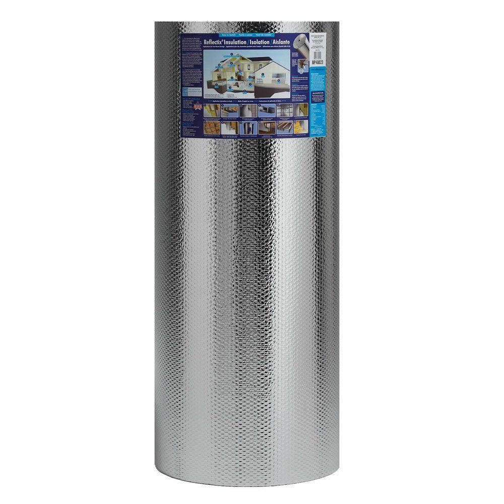 48 in. x 100 ft. Double Reflective Insulation Roll with Staple Tab Edge