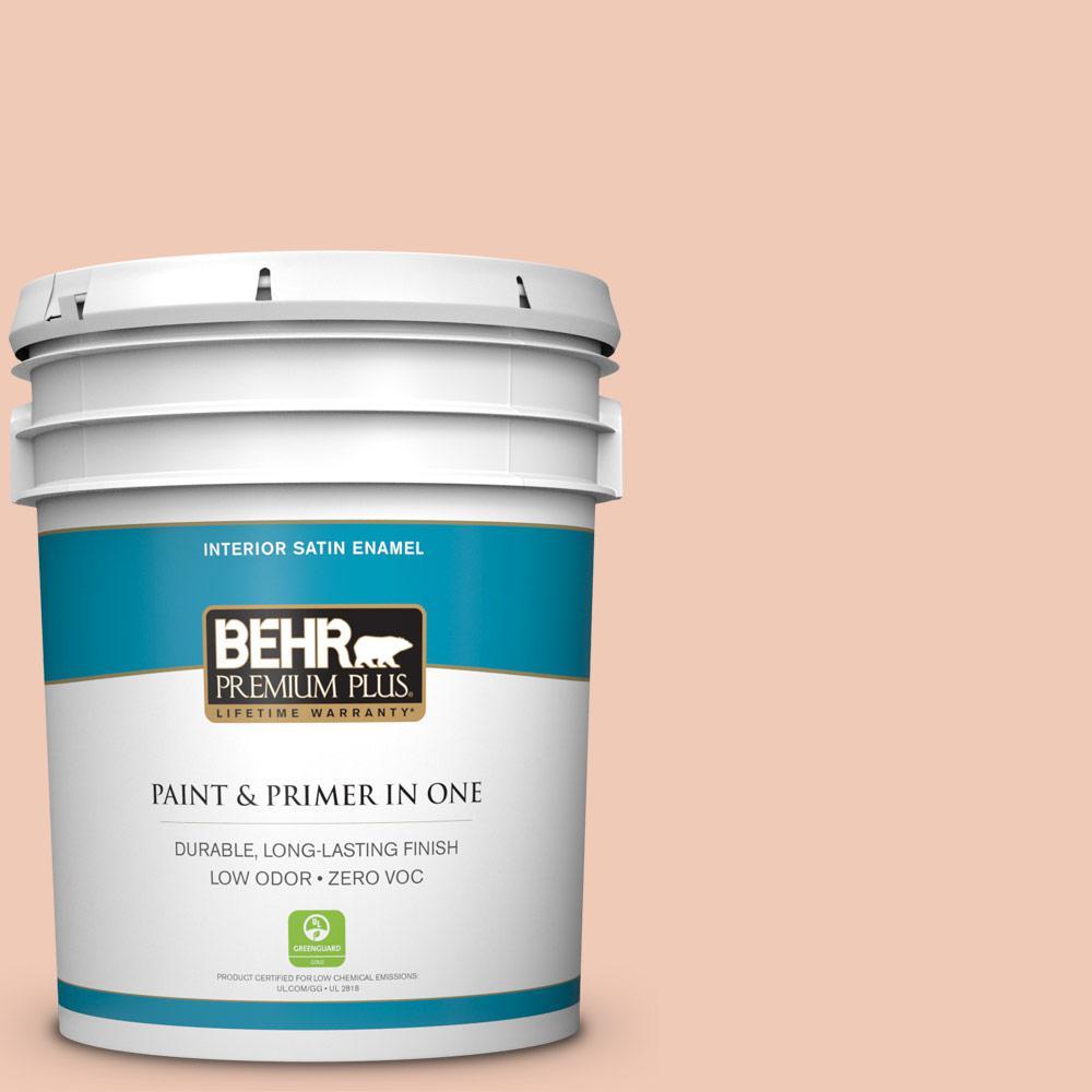 BEHR Premium Plus 5-gal. #M200-2 Fruit Salad Satin Enamel Interior Paint