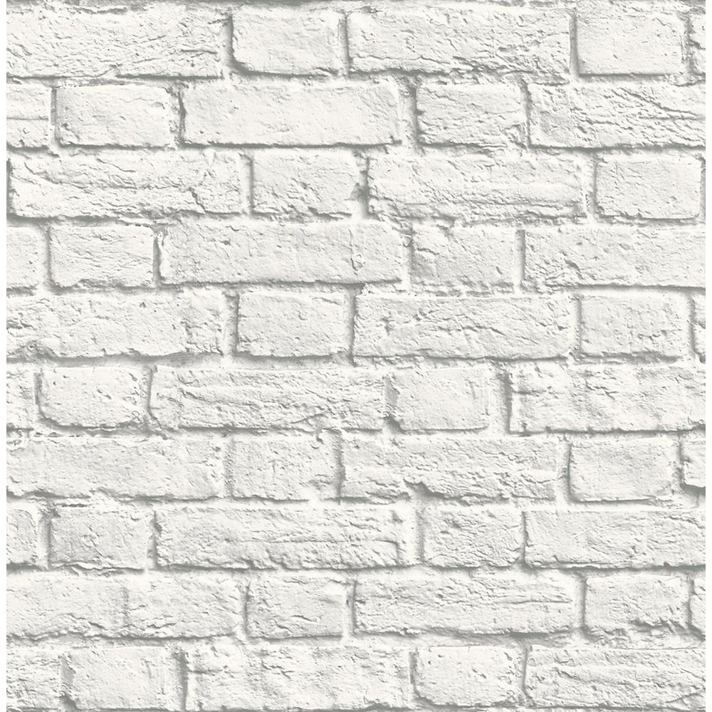 Brewster 56.4 sq. ft. Cologne White Painted Brick ...