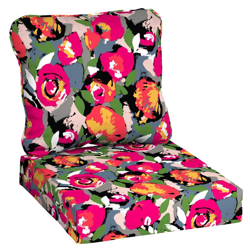 24 in. x 22 in. Vista Mesa Deep Seating Outdoor Lounge Chair Cushion