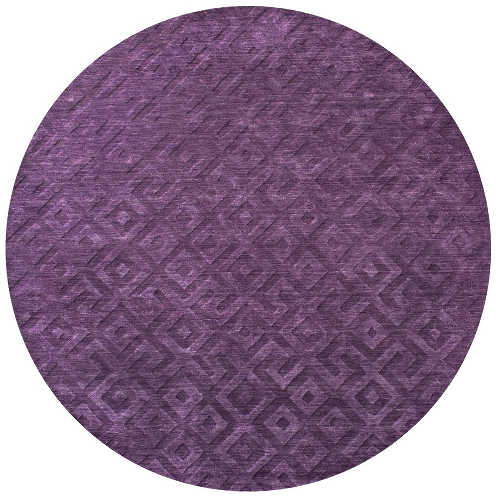 Purple Circle Rugs: Rizzy Home Technique Purple Solid 8 Ft. X 8 Ft. Round Area