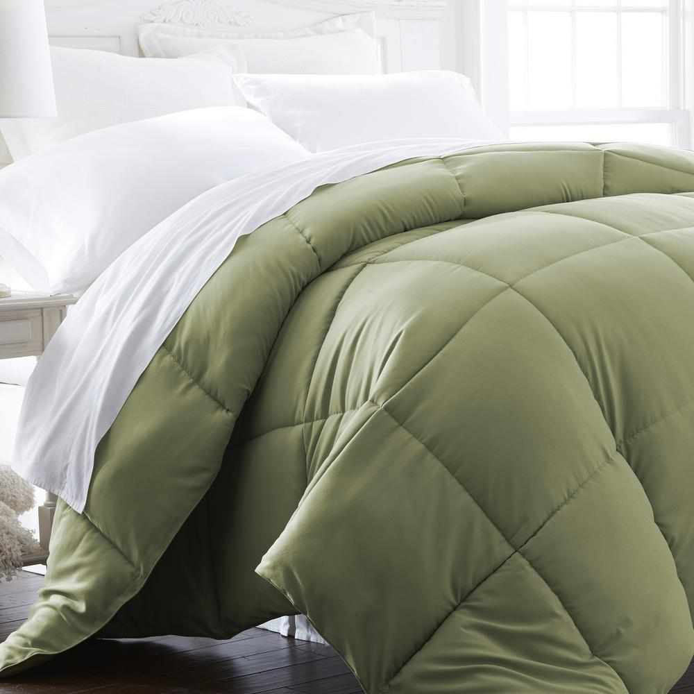 Home Design Down Alternative Color Comforters: Becky Cameron Performance Sage Twin Down Alternative