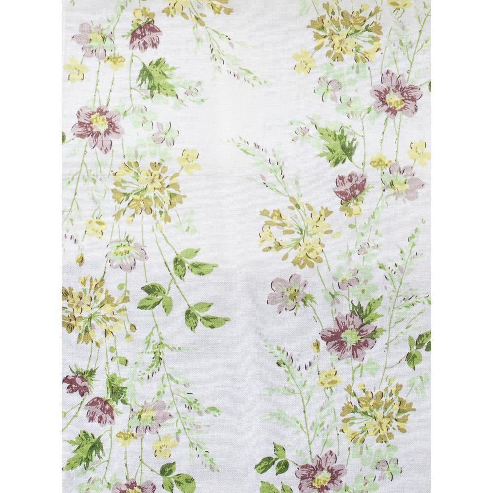 Antique Prairie Hopsack Floral 18 in. x 90 in. Table Runner