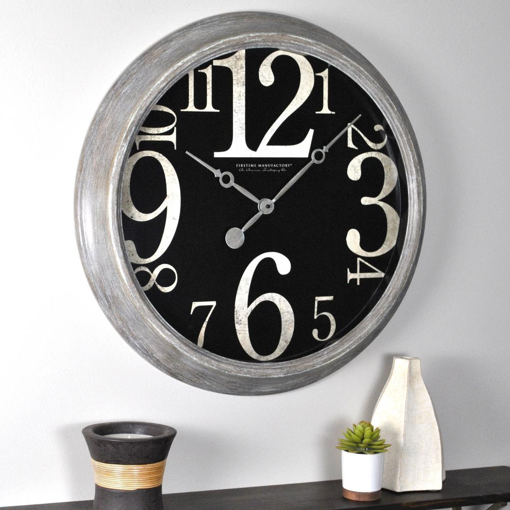 Firstime 24 in h weathered tilt wall clock 50006 the home depot h weathered tilt wall clock 50006 the home depot amipublicfo Choice Image