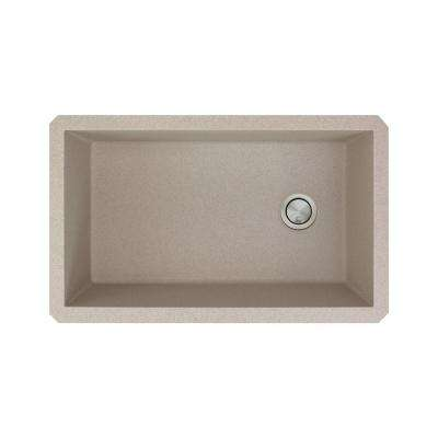 Radius Undermount Granite 32 in. Single Bowl Kitchen Sink in Cafe Latte
