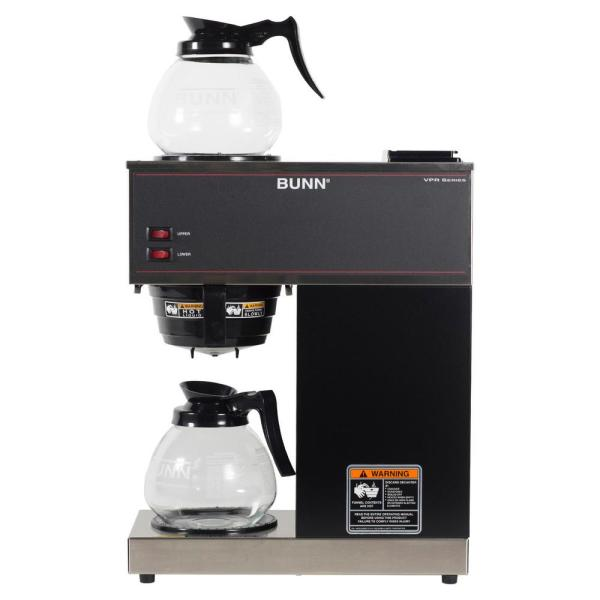 VPR 12-Cup Commercial Coffee Maker w/ 2 Glass Decanters, 33200.0015