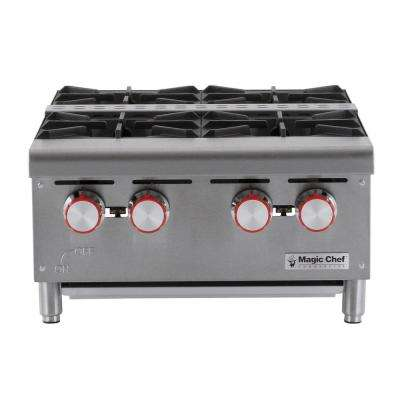 Commercial 24 in. Countertop Gas Hot Plate