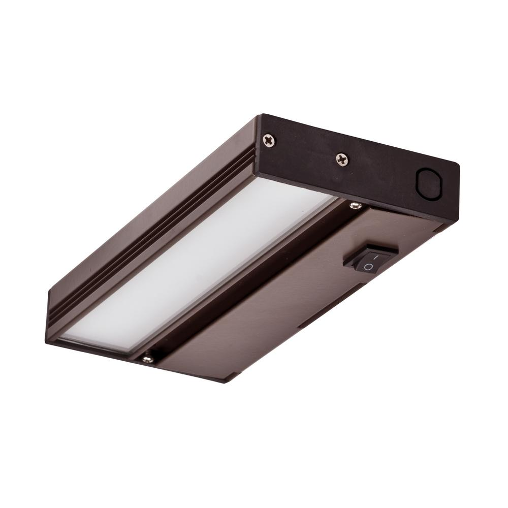 Kitchen Under Cabinet Counter Led Lighting Free Shipping: NICOR NUC 8 In. LED Oil-Rubbed Bronze Dimmable Under