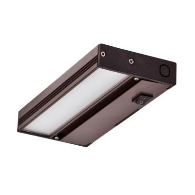 NUC 8 in. LED Oil-Rubbed Bronze Dimmable Under Cabinet Light with Link and Plug Port