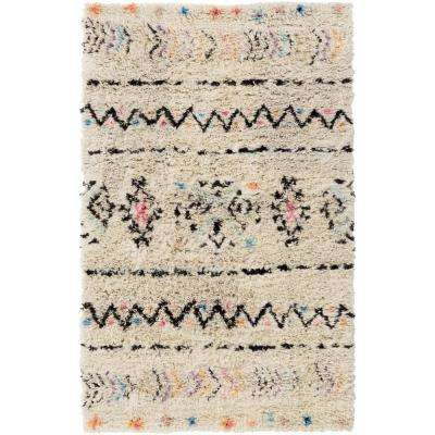 Kenley Cream 4 ft. x 6 ft. Area Rug