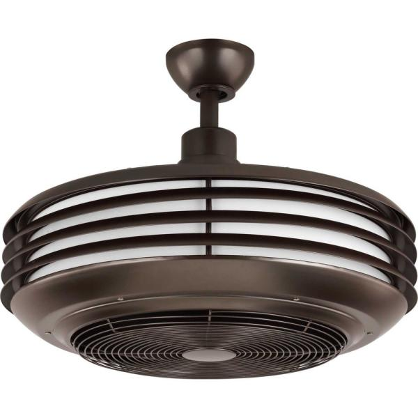 Sanford 23 in. Integrated LED Architectural Bronze Ceiling Fan with Light Kit