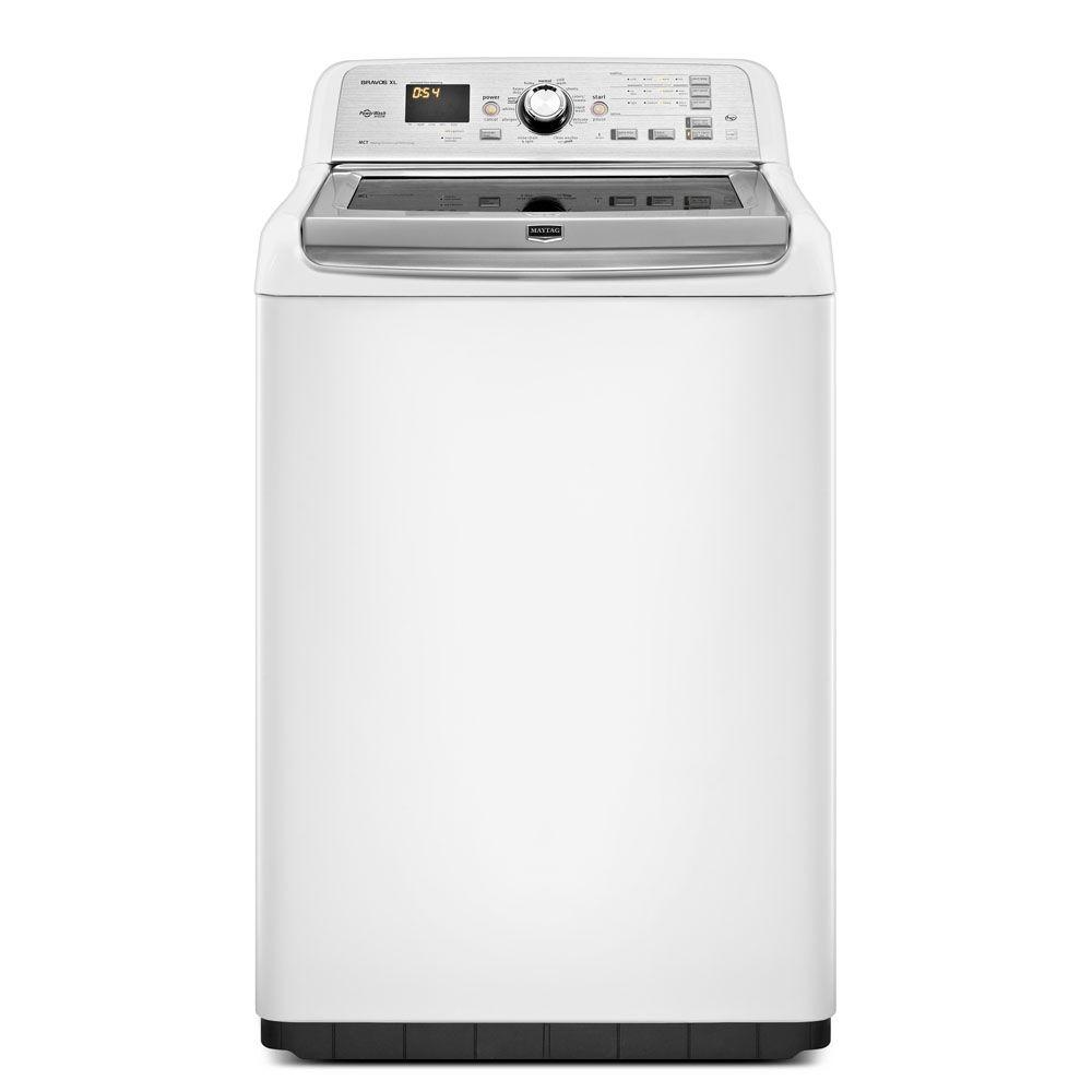 Maytag Bravos XL 4.8 cu. ft. High-Efficiency Top Load Washer in White, ENERGY STAR