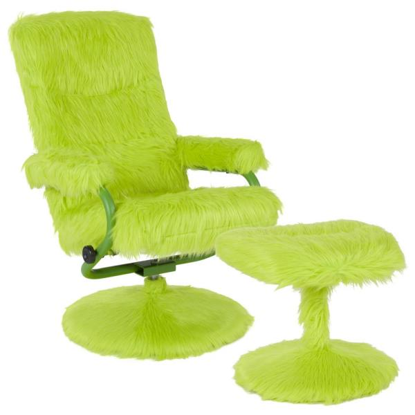 Flash Furniture Citrus Green Fur Recliner CGA-BT-239407-CI-HD