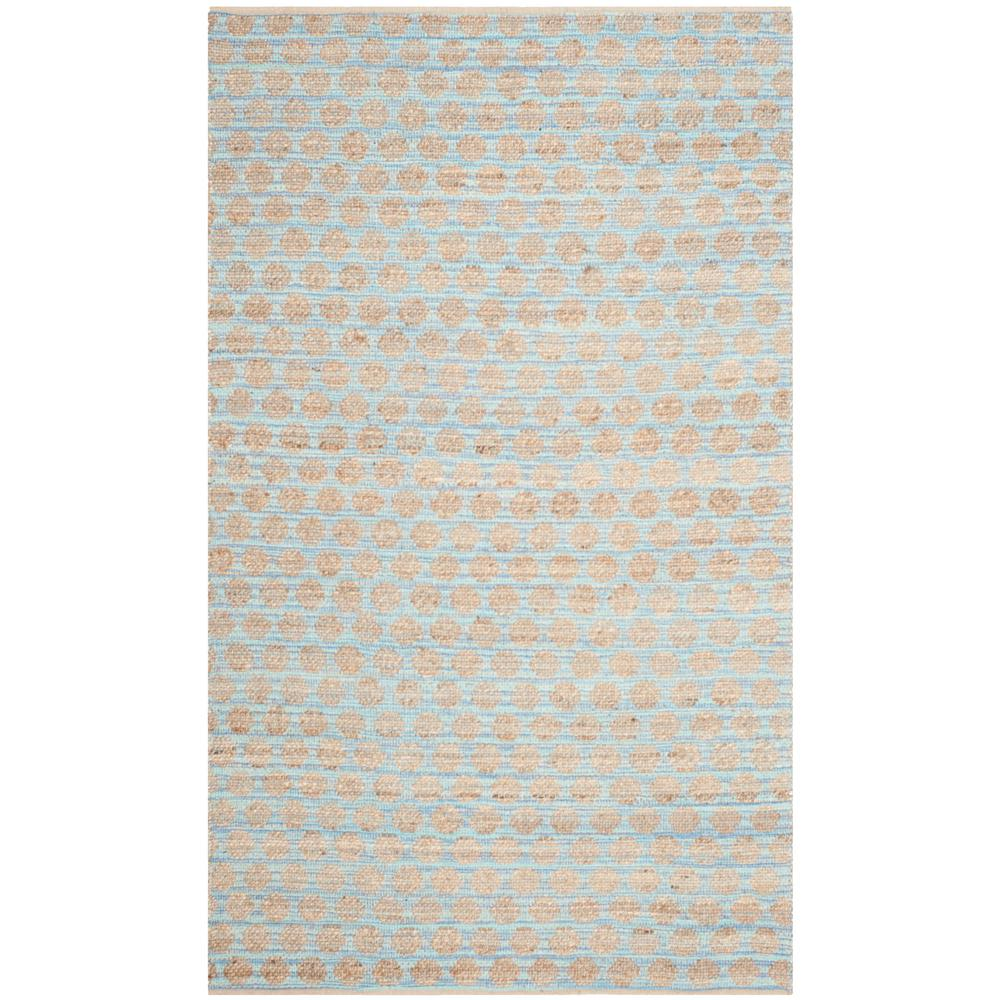 Cape Cod Blue/Natural 6 ft. x 9 ft. Area Rug
