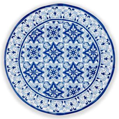 Talavera 16 in. Melamine Serving Platter in Blue