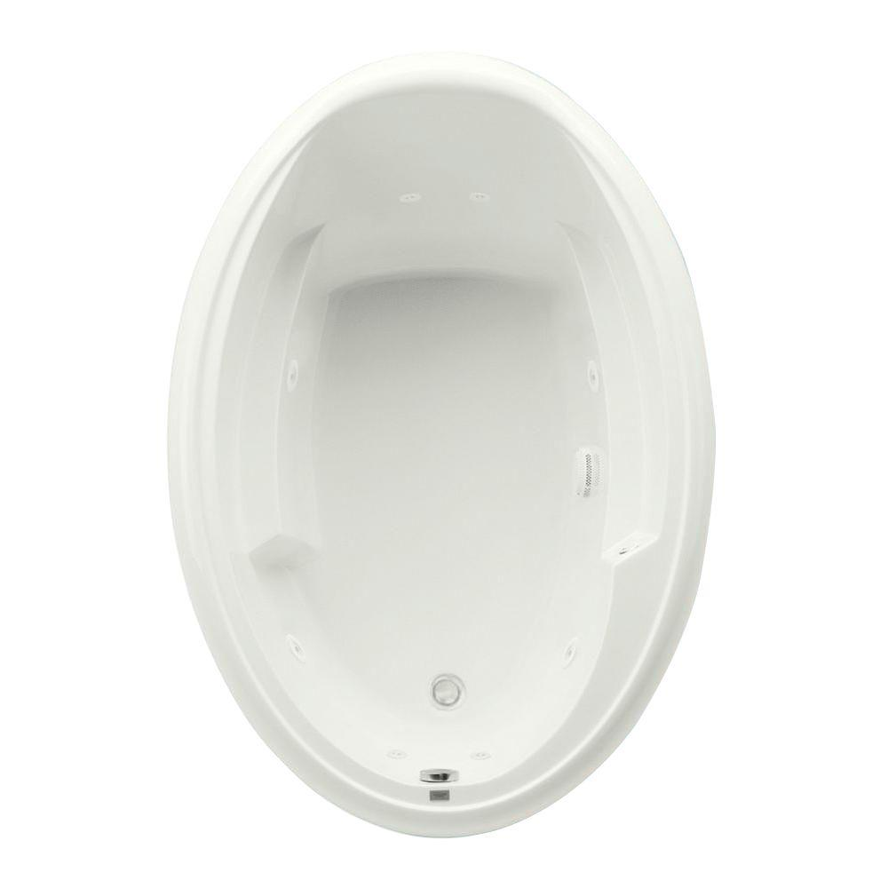 Aquatic Ariel I 60 in. Acrylic Reversible Drain Oval Drop-In ...