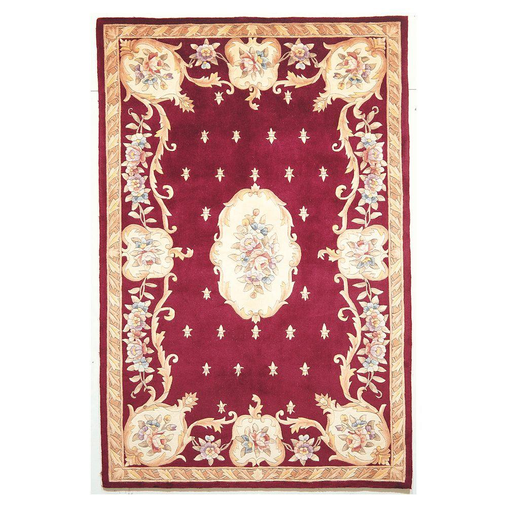 Kas Rugs Classy Aubusson Ruby 2 ft. 6 in. x 4 ft. 2 in. Area Rug