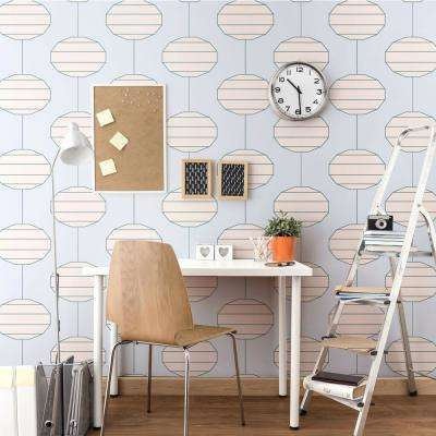 Art in Chaos Collection Paper Lanterns in Morning Removable and Repositionable Wallpaper