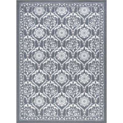 Majesty Charcoal 9 ft. x 13 ft. Transitional Area Rug