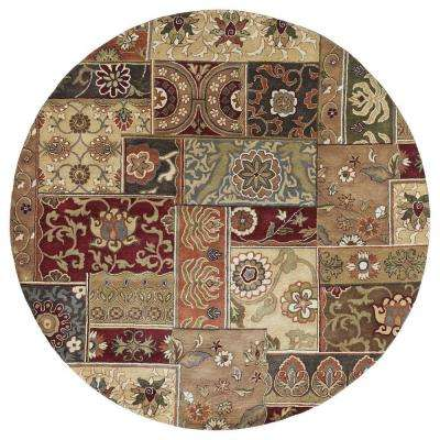 Mystic Aral Charcoal 9 ft. x 9 ft. Round Area Rug