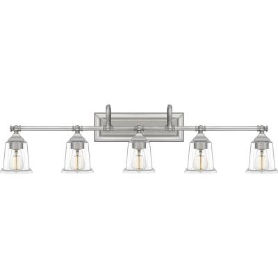 Nicholas 5-Light Brushed Nickel Vanity Light