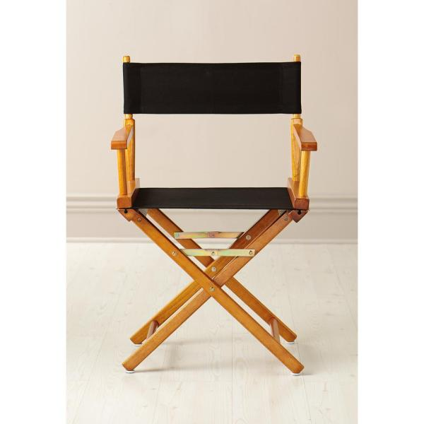 Casual Home 30-Inch Director Chair Black Frame Orange Canvas
