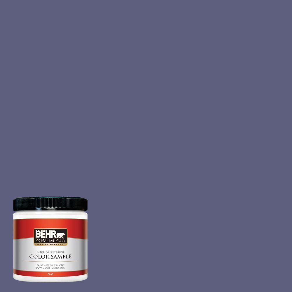 8 oz. #M550-7 Strong Iris Interior/Exterior Paint Sample