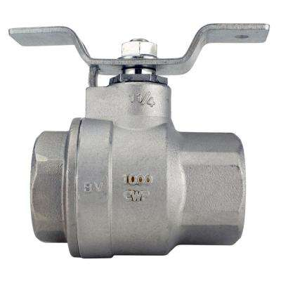 1-1/4 in. Stainless Steel FNPT x FNPT Full-Port Ball Valve With Tee Handle