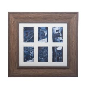 Bombay 25 inch x 24 inch Brown Wood Grain Collage Picture Frame by Bombay