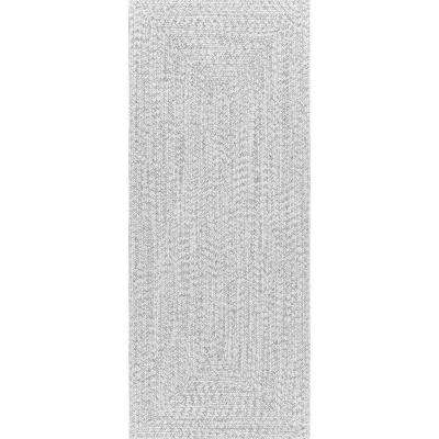 Braided Lefebvre Ivory Indoor/Outdoor 2 ft. 6 in. x 8 ft. Runner