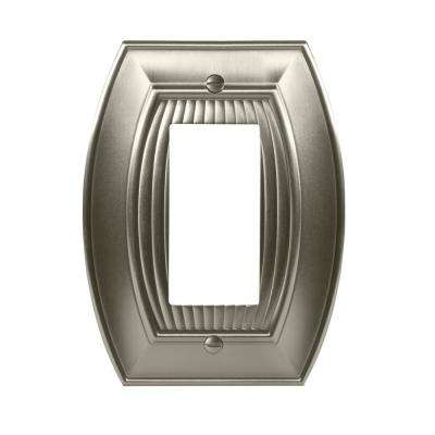 Sea Grass 1-Rocker Wall Plate, Satin Nickel