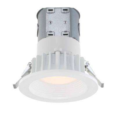EASY-UP 4 in. White Integrated LED Recessed Baffle Kit