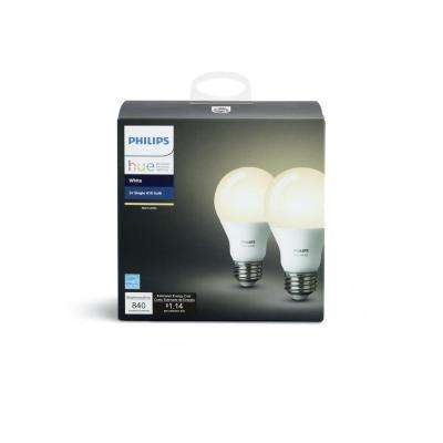 Hue White A19 LED 60W Equivalent Dimmable Smart Wireless Bulb (2 Pack)