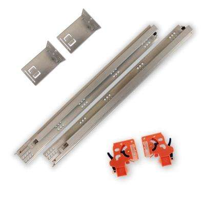 21 in. Soft Close Full Extension Undermount Drawer Slides Kit