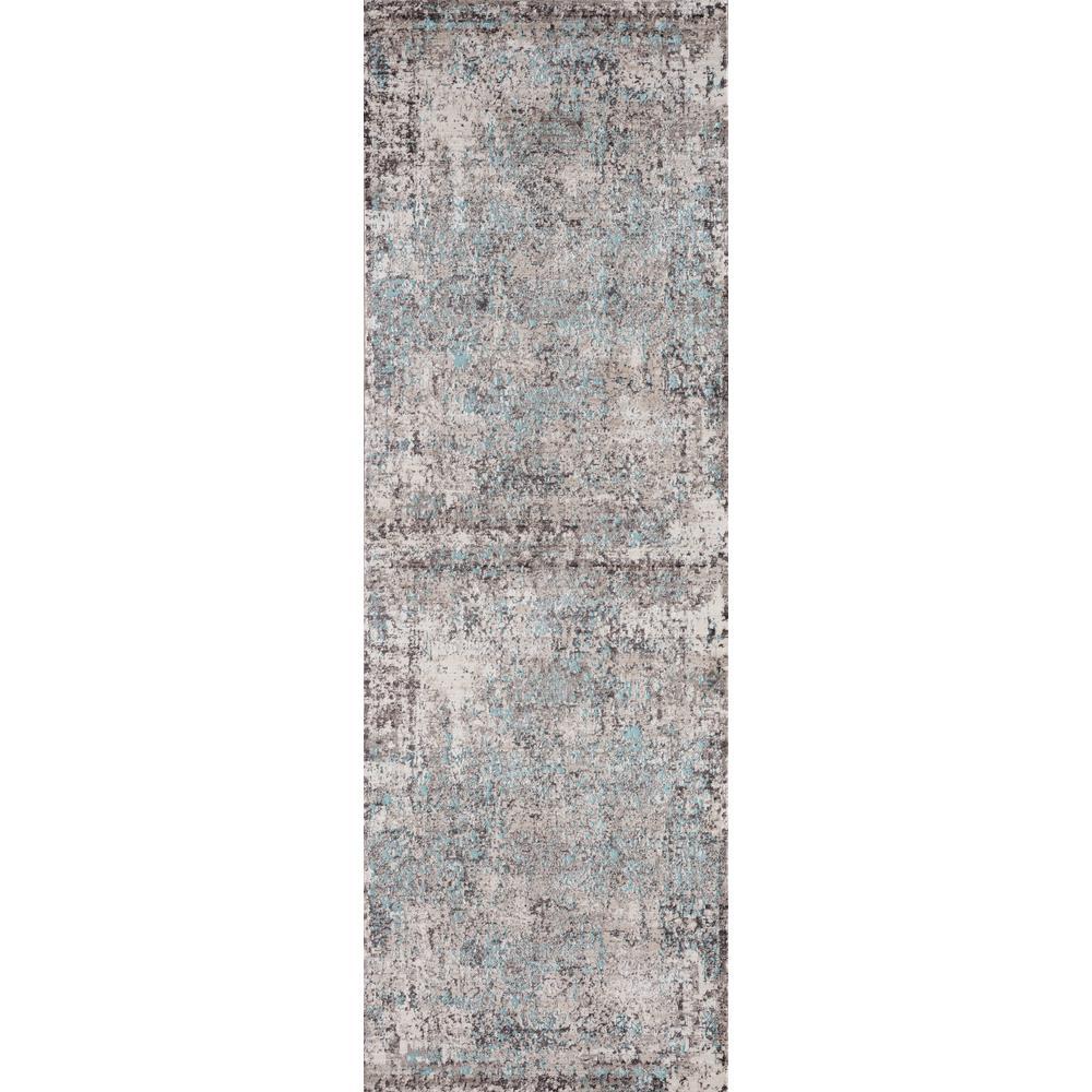 Soignee Birmingham Turquoise 2 ft. 7 in. x 8 ft. Runner