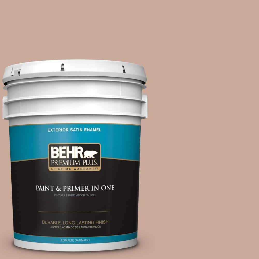 5-gal. #ICC-97 Powdered Allspice Satin Enamel Exterior Paint